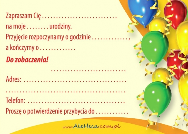 Zaproszenia Urodzinowe Ale Heca